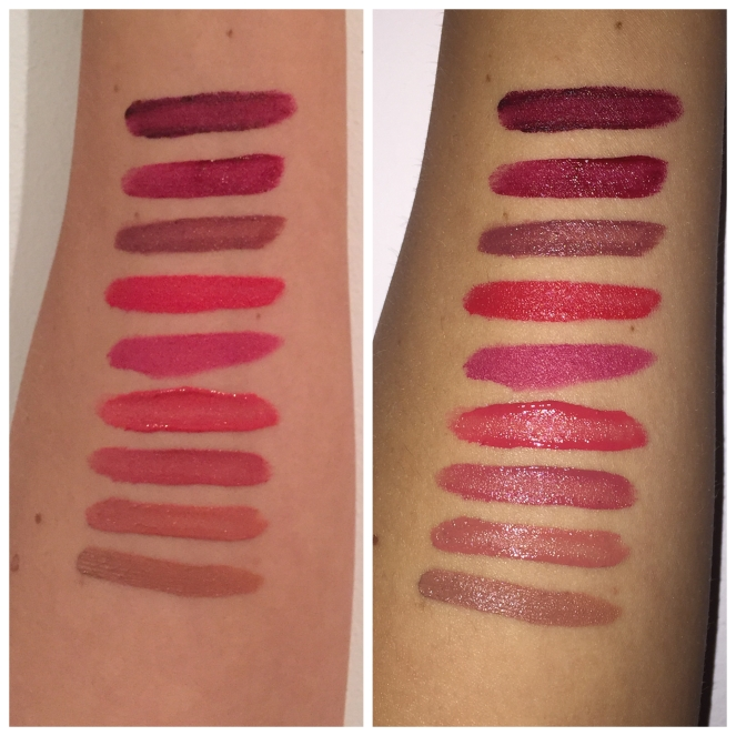 NYX Soft Matte Lip Cream swatches