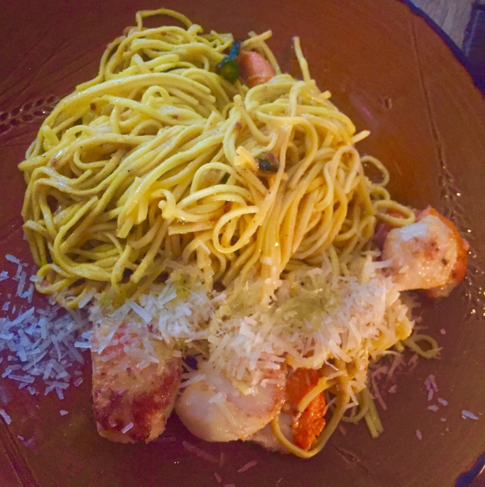 King scallop spaghetti