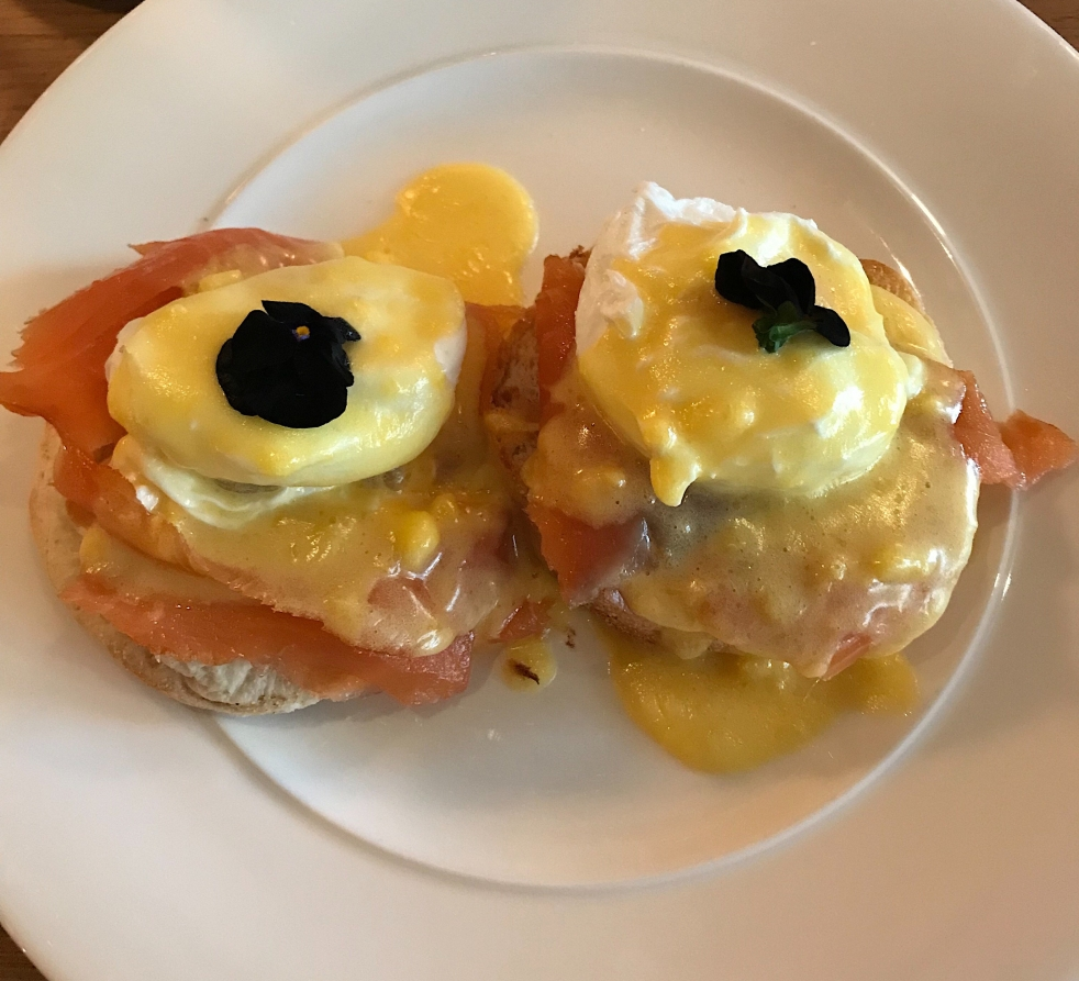 Eggs benedict from Gusto, West Bridgford